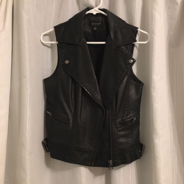 Top Shop Pleather Vest