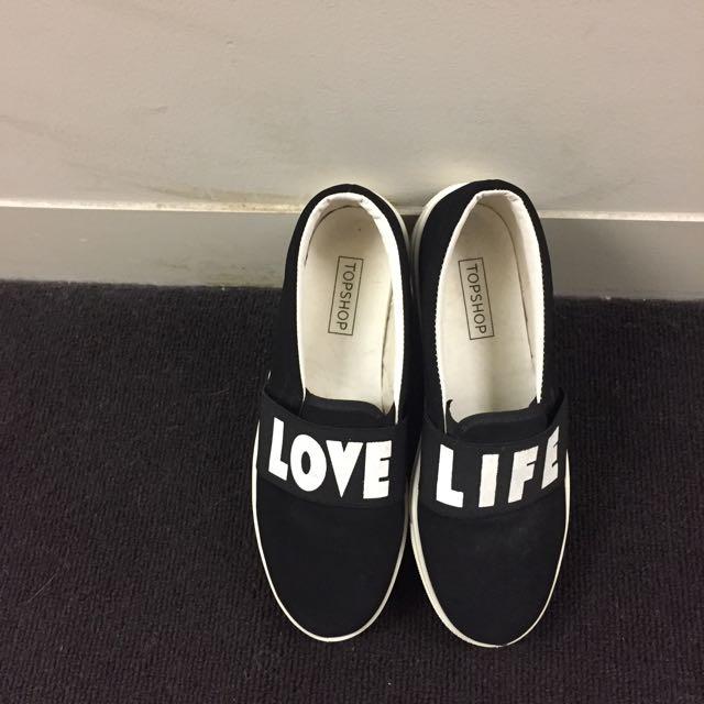 Topshop 'Love Life' Slip On Sneakers