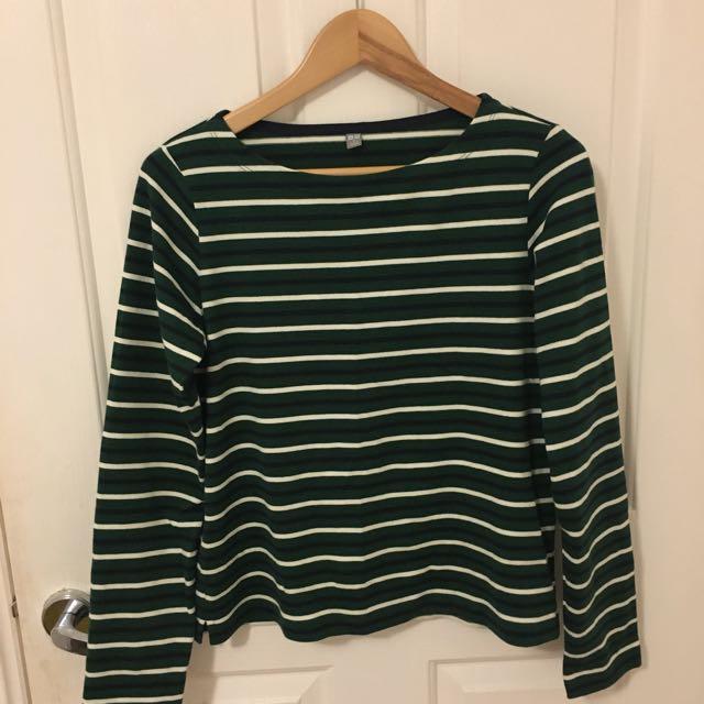 uniqlo striped long sleeve