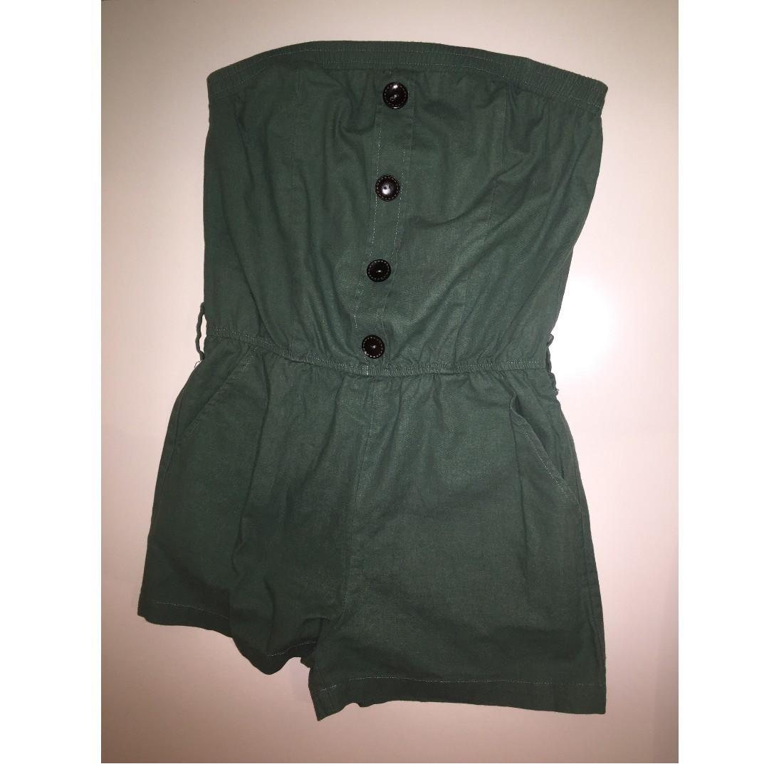 Valleygirl green strapless jumpsuit