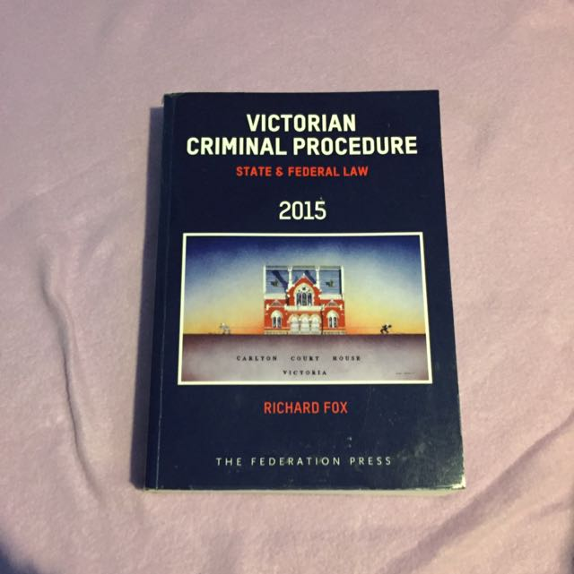 Victorian Criminal Procedure Textbook