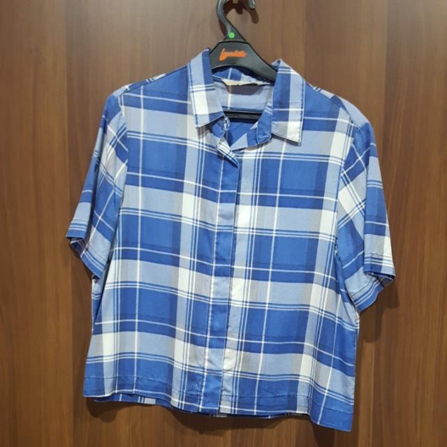 Zara Blue Checkered Shirt