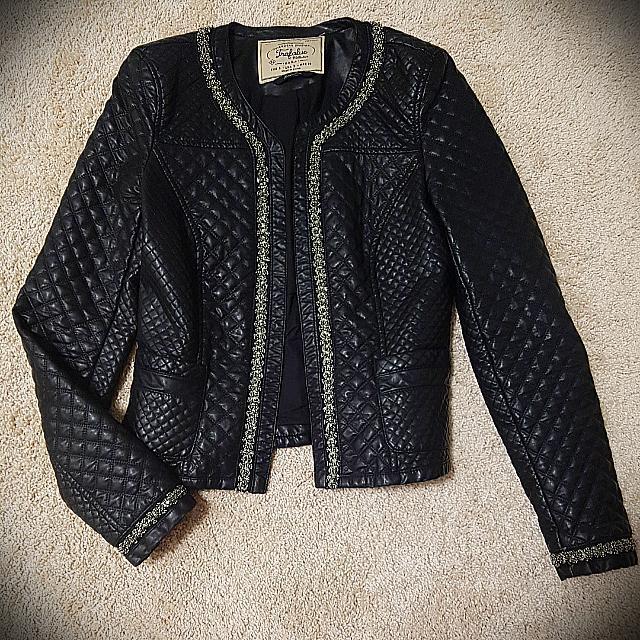 Zara faux leather black jacket