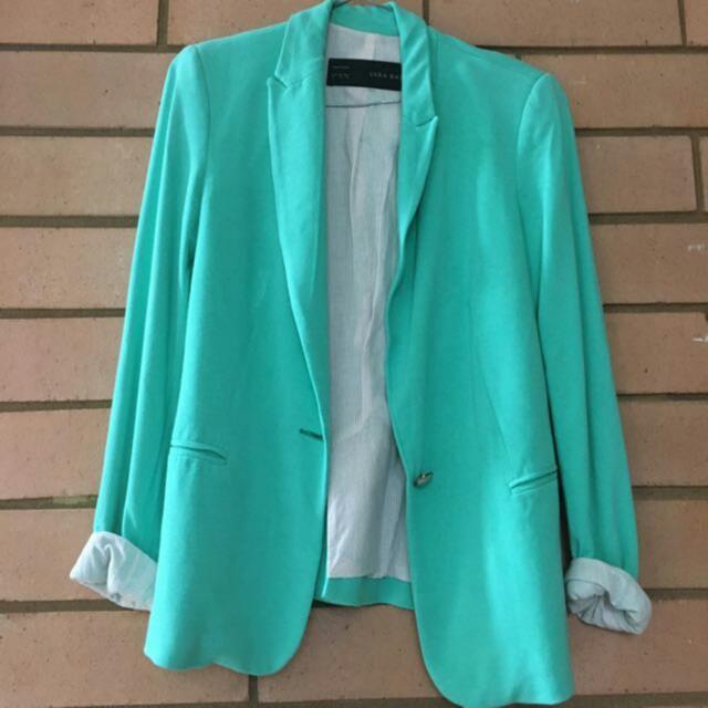 Zara M blazer Turquoise
