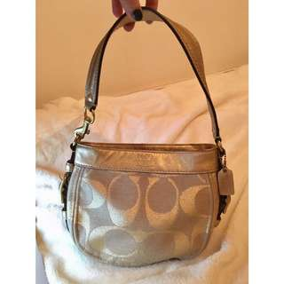 50% OFF COACH Gold & Tan Zoe Signature Hobo Bag [Brand New]