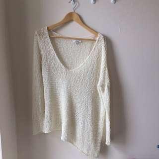 Aritzia Off White Loose Knit Sweater