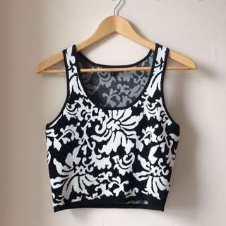 Cropped Thick Material Tank Top