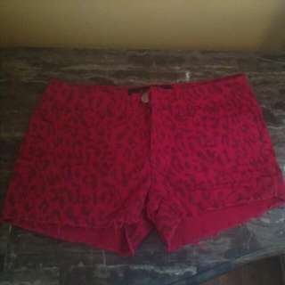Women Red Jeans Shorts