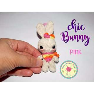 Handmade Chic Bunny Necklace or Keychain