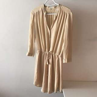 Cream Aritzia dress size S