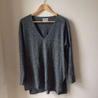 Aritzia(Babaton) Wool Salt And Pepper Longsleeve/sweater