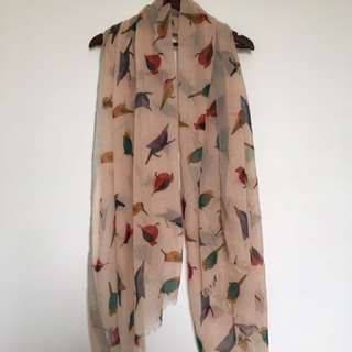 Bird Patterned Scarf
