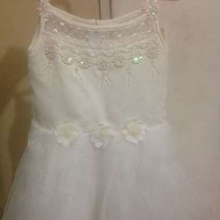 White Gown For Kids/Flower Girl/Wedding