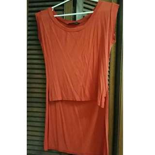 Hi-lo Top with Small Side Slits