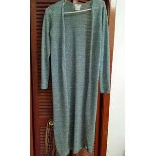Long Floor Length Knit Cardigan