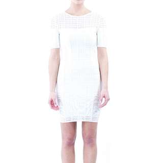 White Long Sleeve Bandage Dress