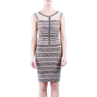 Black/nude Bandage Dress