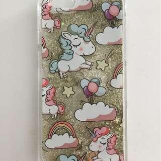 iPhone 6/6S Unicorn and floating glitter case