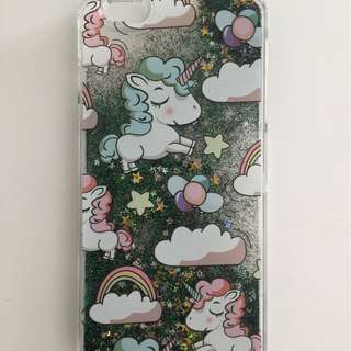 iPhone 6/6S Plus Unicorn and floating glitter case