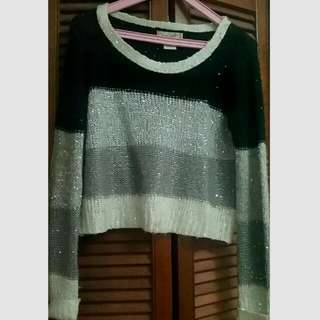 Long Sleeve Sequined Sweater