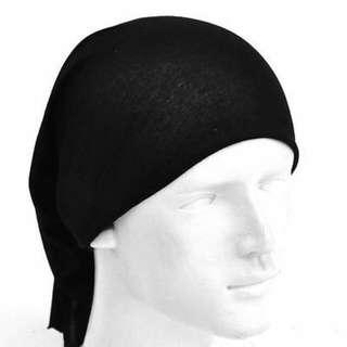Plain Black Multi Head Scarf Bandana