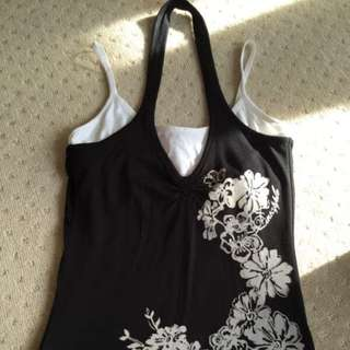 Brand Pineapple. Black And White Top Uk Size 8