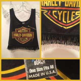 Size OS - Vintage Harley-Davidson crop top
