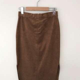 Aritzia Faux Suede Skirt