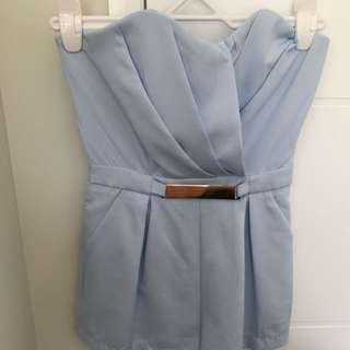 Blue Mini Playsuit