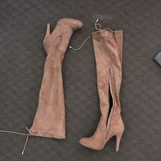 Boohoo Thigh high boots