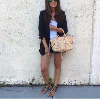 Rebecca Minkoff Moto satchel in biscuit