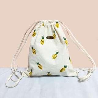 Pineapple Drawstring Beach Bag
