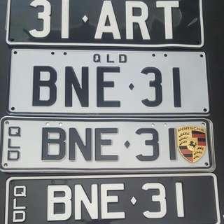 Liscence Plates Qld