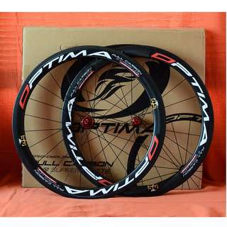 Optima PRO 50 Carbon Clincher Wheelset with Warranty