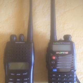 walkie talkie motorola dan baofeng