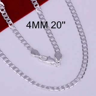 sterling silver classic Chain For Men necklace