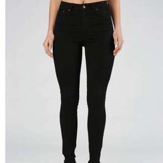 Res Denim Black High Waisted Jeans Size 26