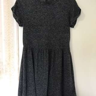 Topshop Petite Grey Jersey Dress Size UK 6