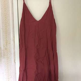 Avery Far Red Slip Dress Size 6