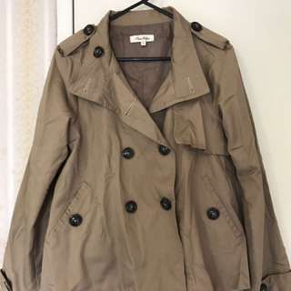 Miss Shop Camel Trench Coat Size 6