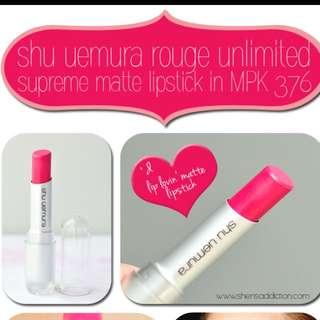 Shu Uemura Rouge Unlimited Supreme Matte Lipstick PK376 M