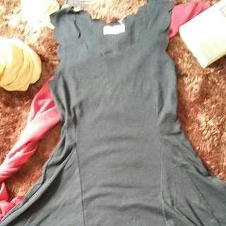 Bodycon Scallop Mini Dress