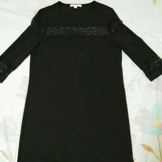 Esprit Black dress. With lace details.. Classy, perfect for cocktail party or for office wear..  Brandnew never worn.. Nakatambak lng sa drawer.. (S-SL) Php699 only!!