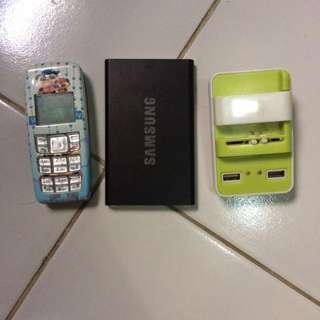 HP Nokia, Power Bank Samsung, Charger
