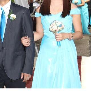 Gown Long Dress Blue