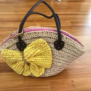 Yellow Ribbon Beach Bag