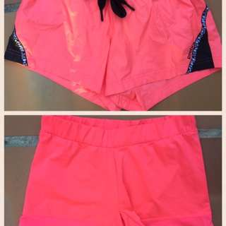 Adidas (Stella McCartney) & Reebok Fitness Gym Shorts Size 8 Or Small