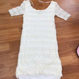 Cream Dress In S