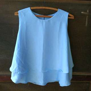 Blue Layer Top