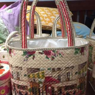 Big Oval Bag Decoupage